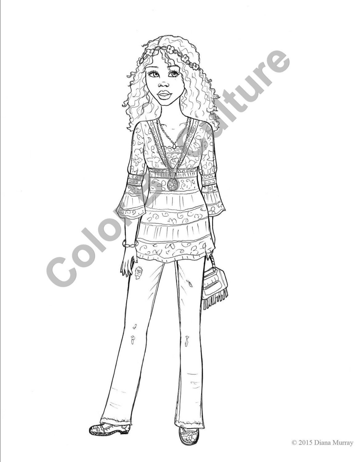 Instant Download - 10 Spring Fashion Coloring Pages - Volume 10