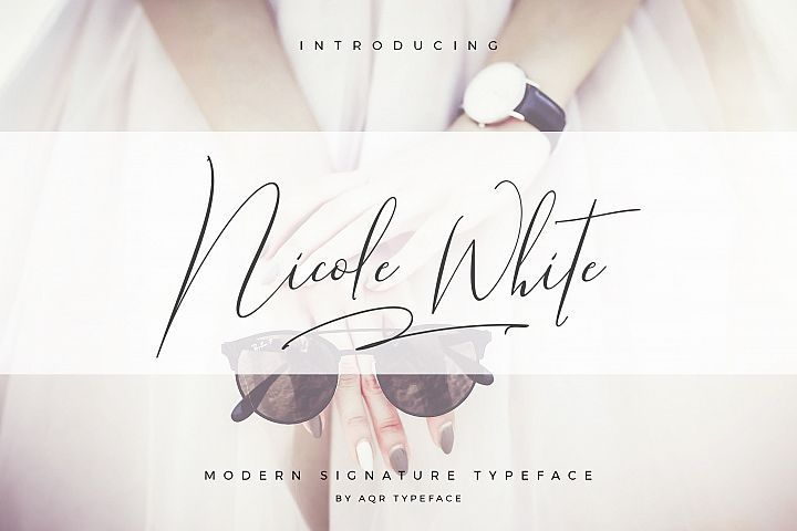 Download Download NicoleWhite Signature Font Fonts Style 2019 ...
