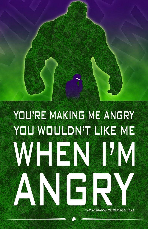 Hulk Quotes The Incredible Hulk Bruce Banner Marvel Comics  Comics