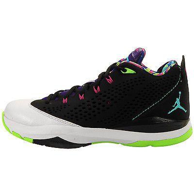 Nike Jordan CP3.VII Mens 616805 015 Black Lime Blue