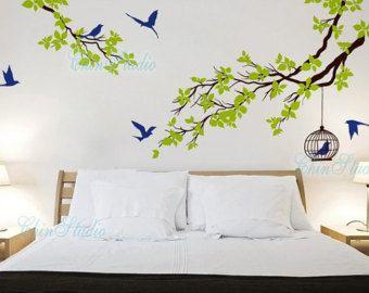 Vinyl Wall Decals Tree Birds Wall Decal Wall Art Sticker Nature - Wall decals nature