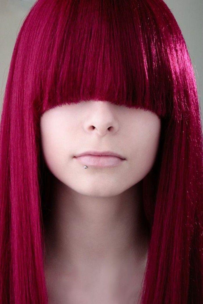 Assez ▷ 1001+looks réussis pour des cheveux couleur framboise  JX46