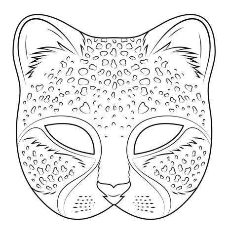 Cheetah Mask Coloring Page Free Printable Coloring Pages Coloring Mask Printable Animal Masks Mask Template