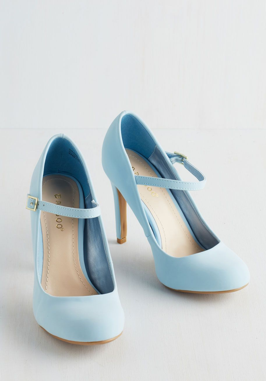 f19ae15d252 Shoe Had Me At Hello Heel in Sky. Its sure to be love at first step when  you buckle into these pastel blue Mary Jane heels.  blue  prom  wedding   bridesmaid ...