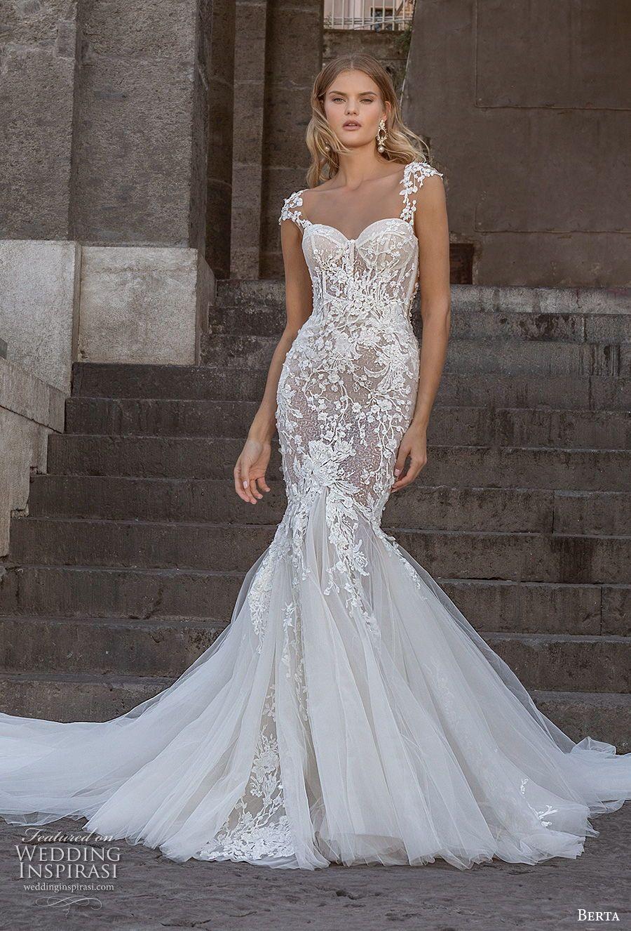 Berta Fall 2020 Wedding Dresses Napoli Bridal Collection Wedding Inspirasi Wedding Dresses Lace Mermaid Wedding Dress Mermaid Wedding Dress [ 1326 x 900 Pixel ]
