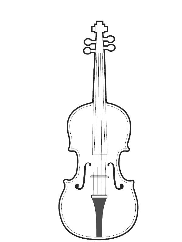 Coloring Page Musical Instruments Musical Instruments Com Imagens