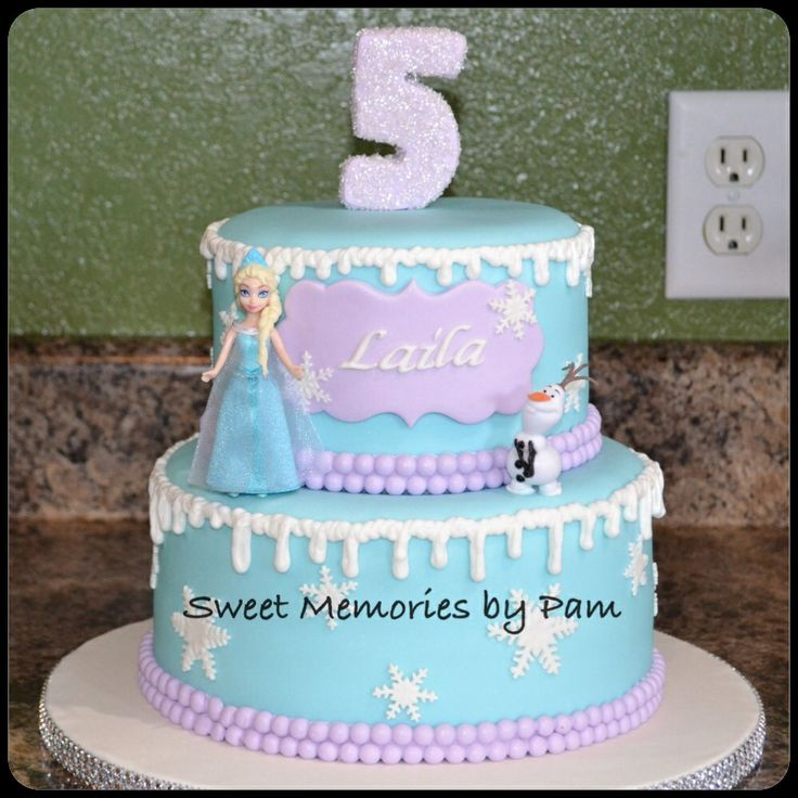 "frozen themed BIRTHDAY cakes   FROZEN"" theme Birthday Cake."