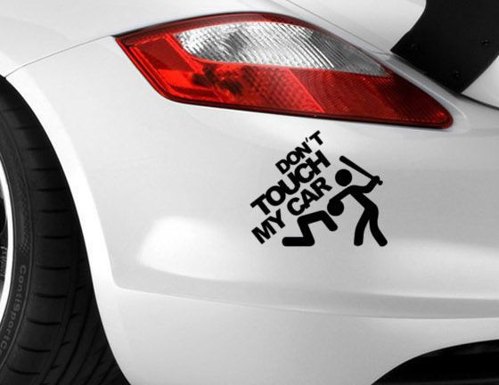 Details About Car Touch Sticker My T Don Decal Funny Vinyl Window - Vinyl decals for my car