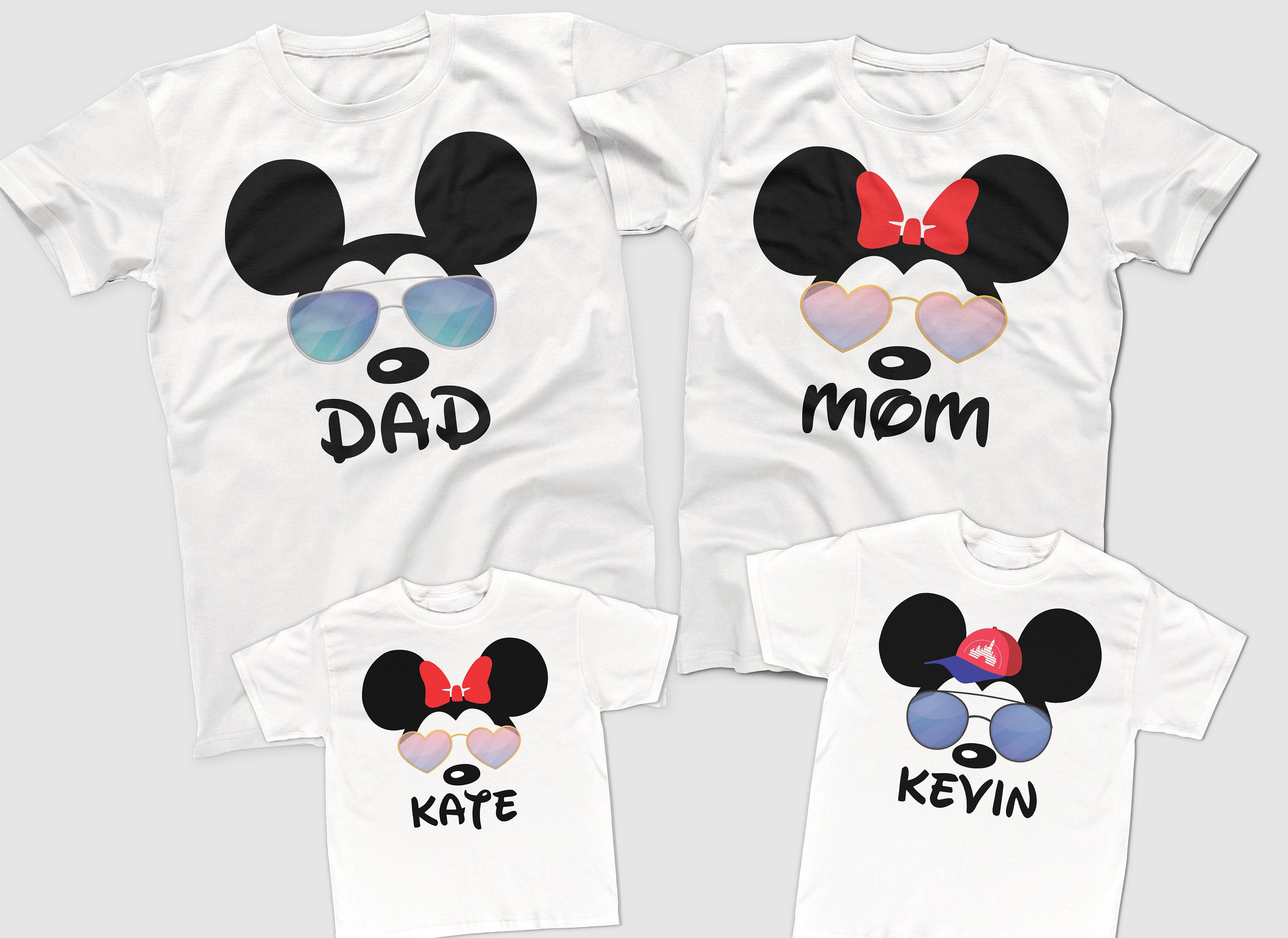 Personalized Disney Mickey Head with Chip and Dale T-Shirt