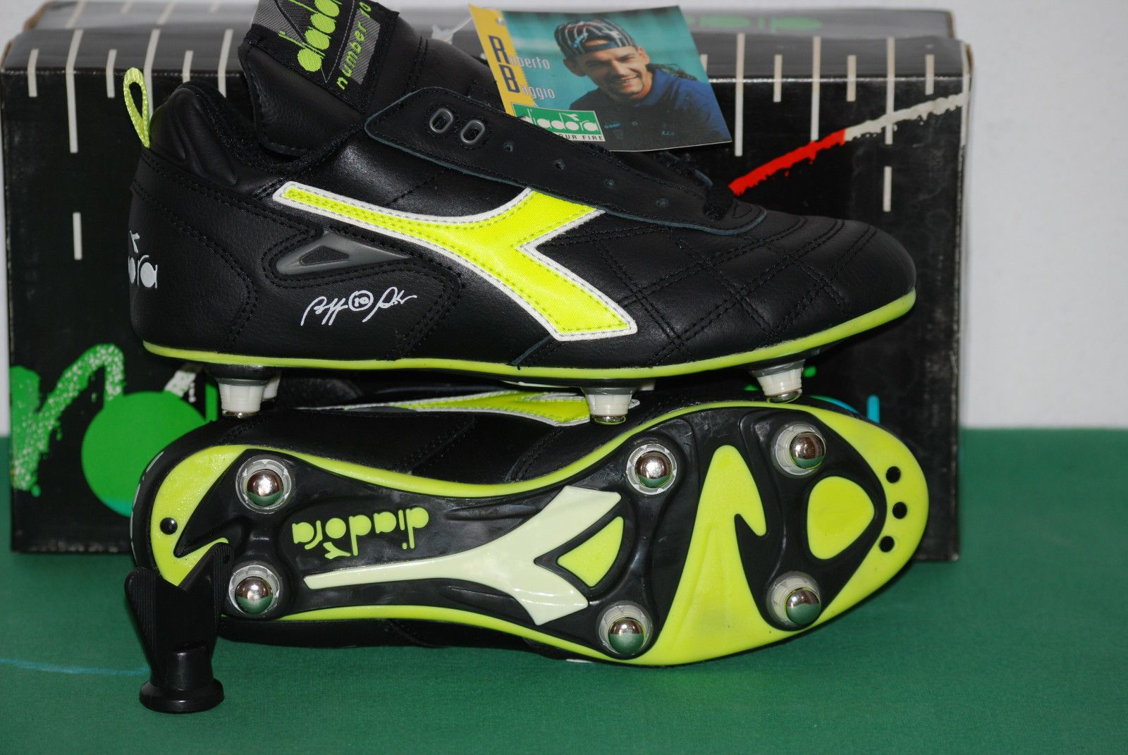 4ac41af6785d vintage diadora roberto baggio club pro NUMBER 10 SC match worn boots shoes  1990 | eBay