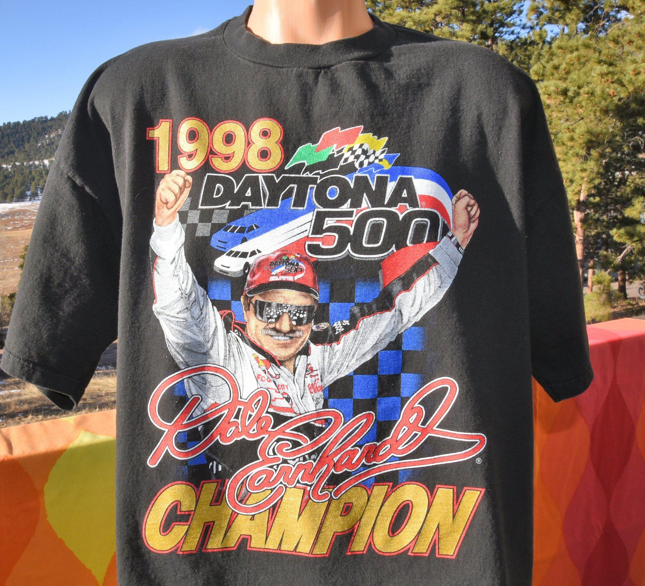 90s Vintage Dale Earnhardt T Shirt Nascar Daytona 500 Chevy Car Racing Xxl 2xl Xl Shirt Shop Shirts Nascar Daytona 500 [ 2000 x 2200 Pixel ]