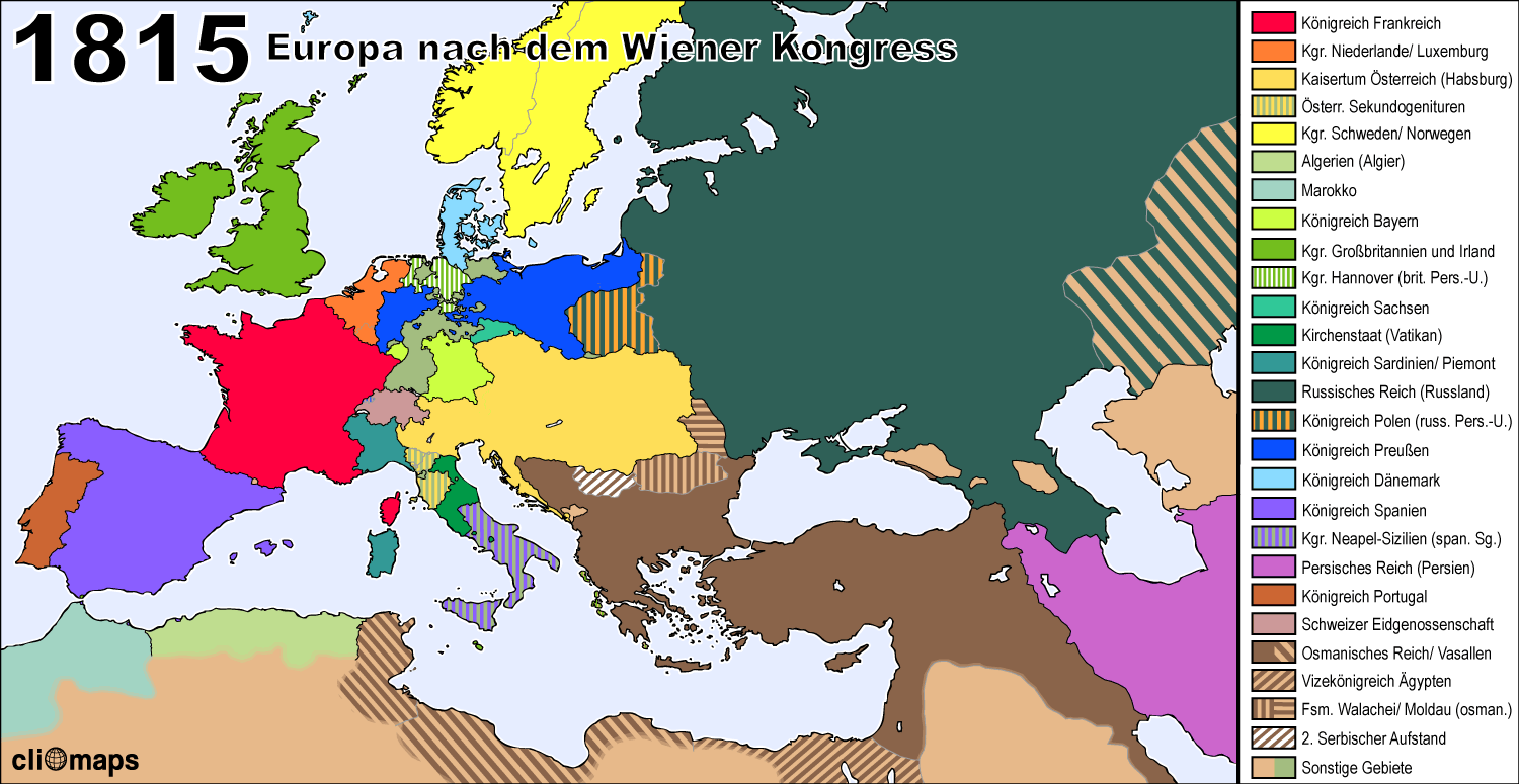 Europe Map In 1815