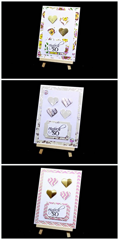Diy Geschenk Herz Karte Basteln Mit Papier Bastelideen Gegen