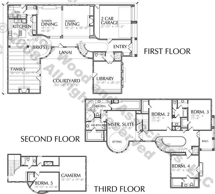 Online Two Story Family House Plans, Home Floor Plan, New Housing