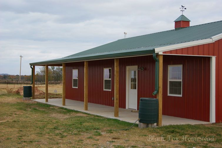 Very simple 30 x 50 metal pole barn home in oklahoma hq for Metal pole barn homes plans