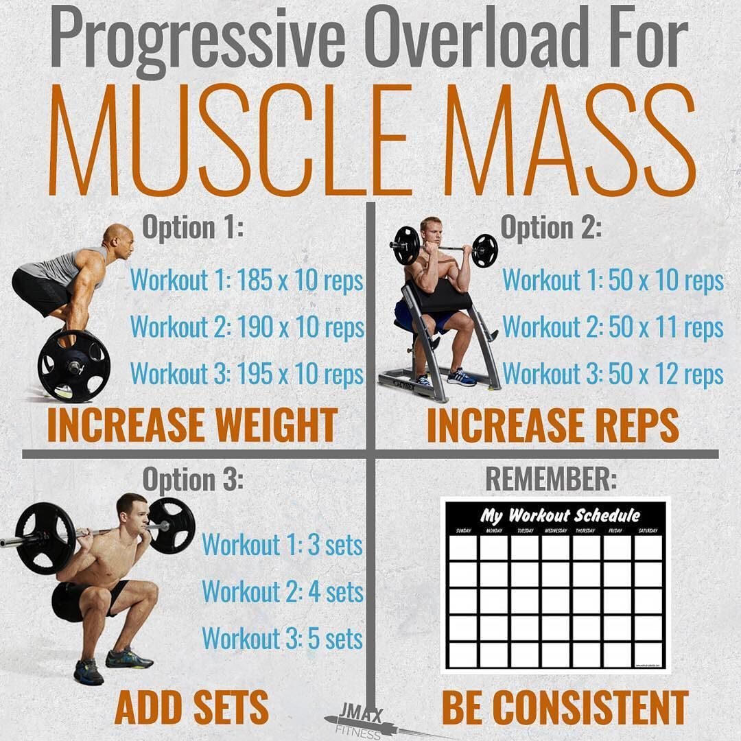 PROGRESSIVE OVERLOAD FOR MUSCLE MASS by @jmaxfitness - Visit the link in my bio to claim your free 1-week muscle bu… | Muscle, Gain muscle, Weight training workouts