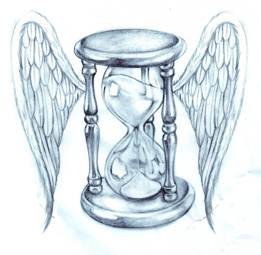 hourglass drawing hourglass with wings drawing tattoo pinterest wings drawing hourglass. Black Bedroom Furniture Sets. Home Design Ideas
