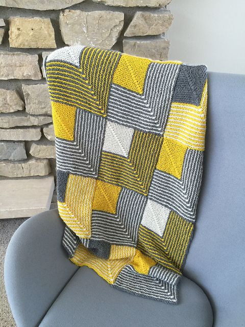 Mitered Squares Baby Afghan or Lap Robe pattern by Margaret Holzmann