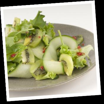 Zespri - Kiwi salade met komkommer en koriander
