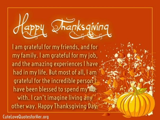 Being Thankful Thanksgiving Day