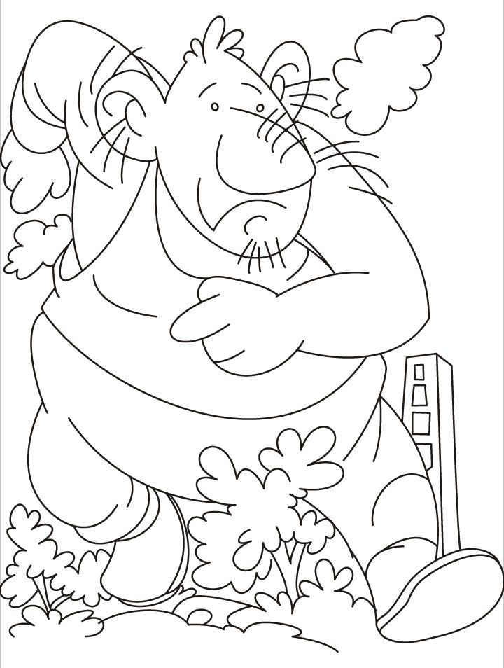 A Giant Leap By Coloring Pages