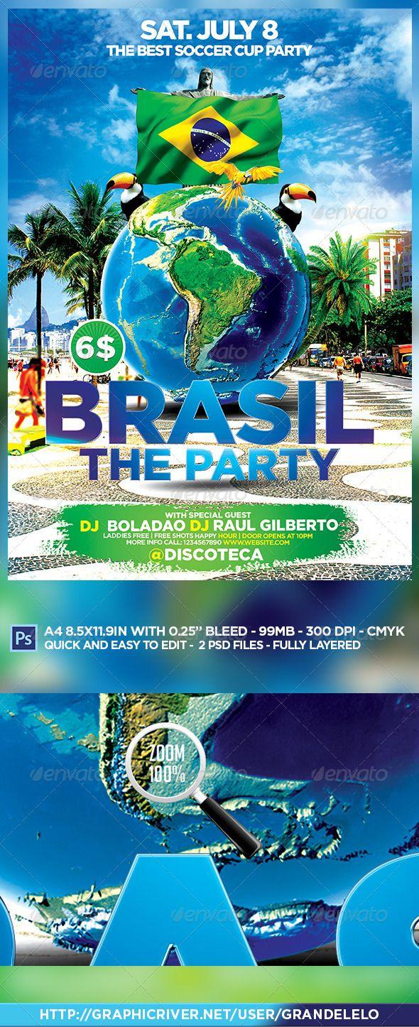 Brazil Party Flyer Template