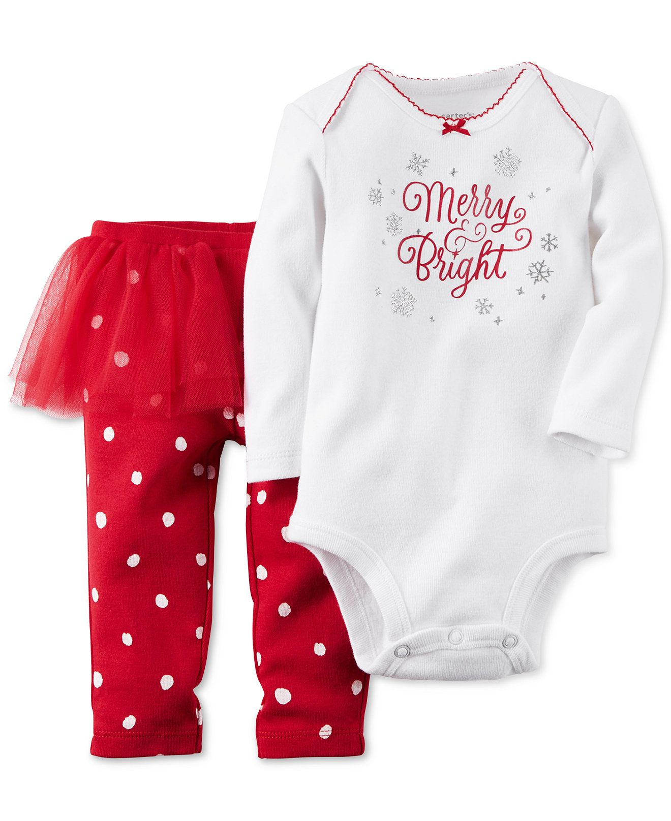 Carter S Baby Girls Two Piece Merry Amp Bright Tutu Pants