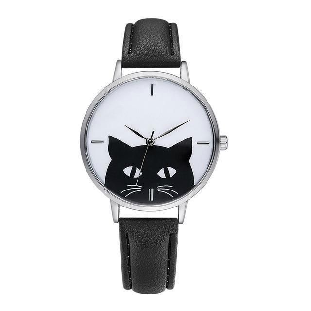47b0964e586 Women s Classic Black Cat Quartz Wrist Watch