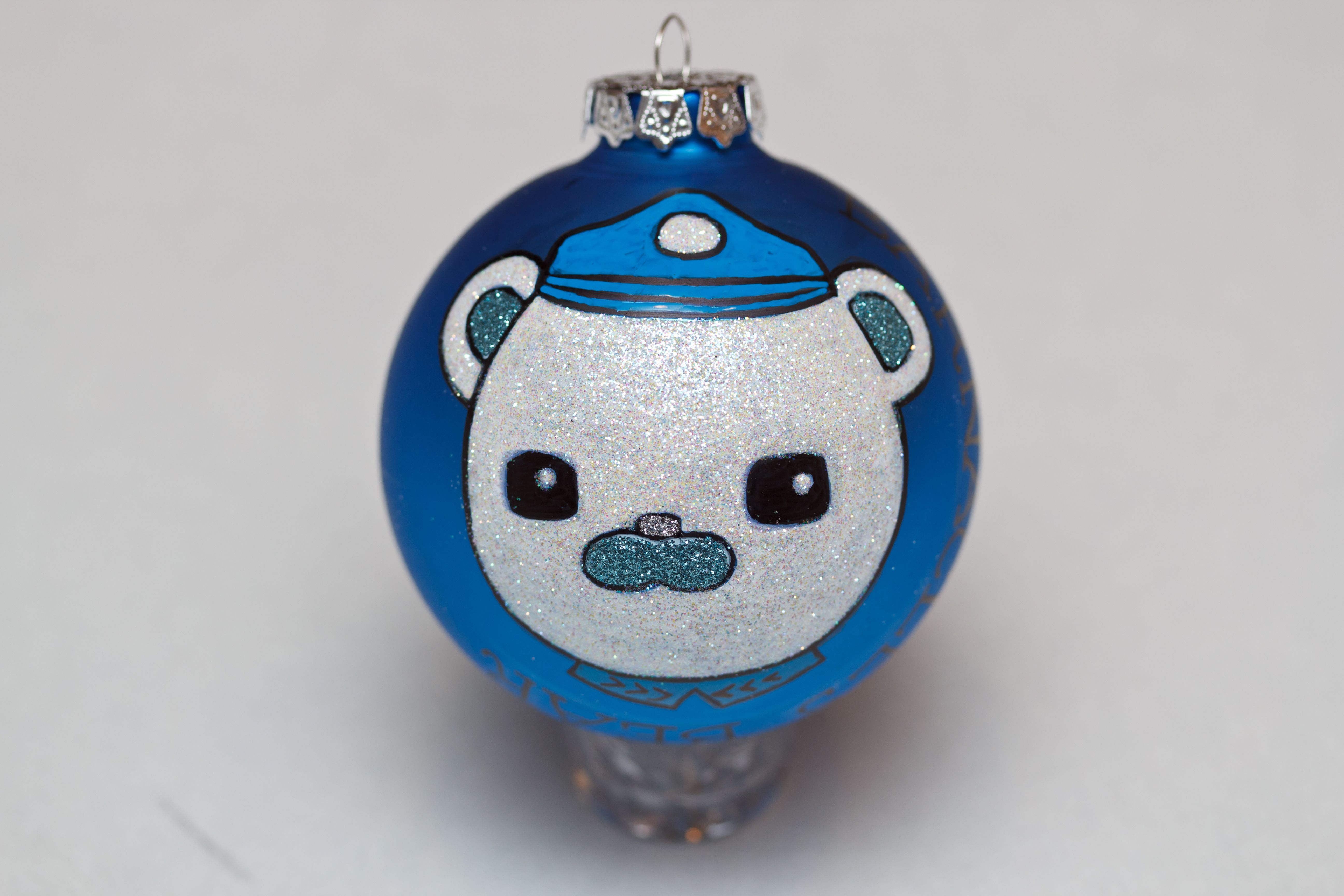Captain Barnacles Bear of The Octonauts glass ornament. Super fun to ...