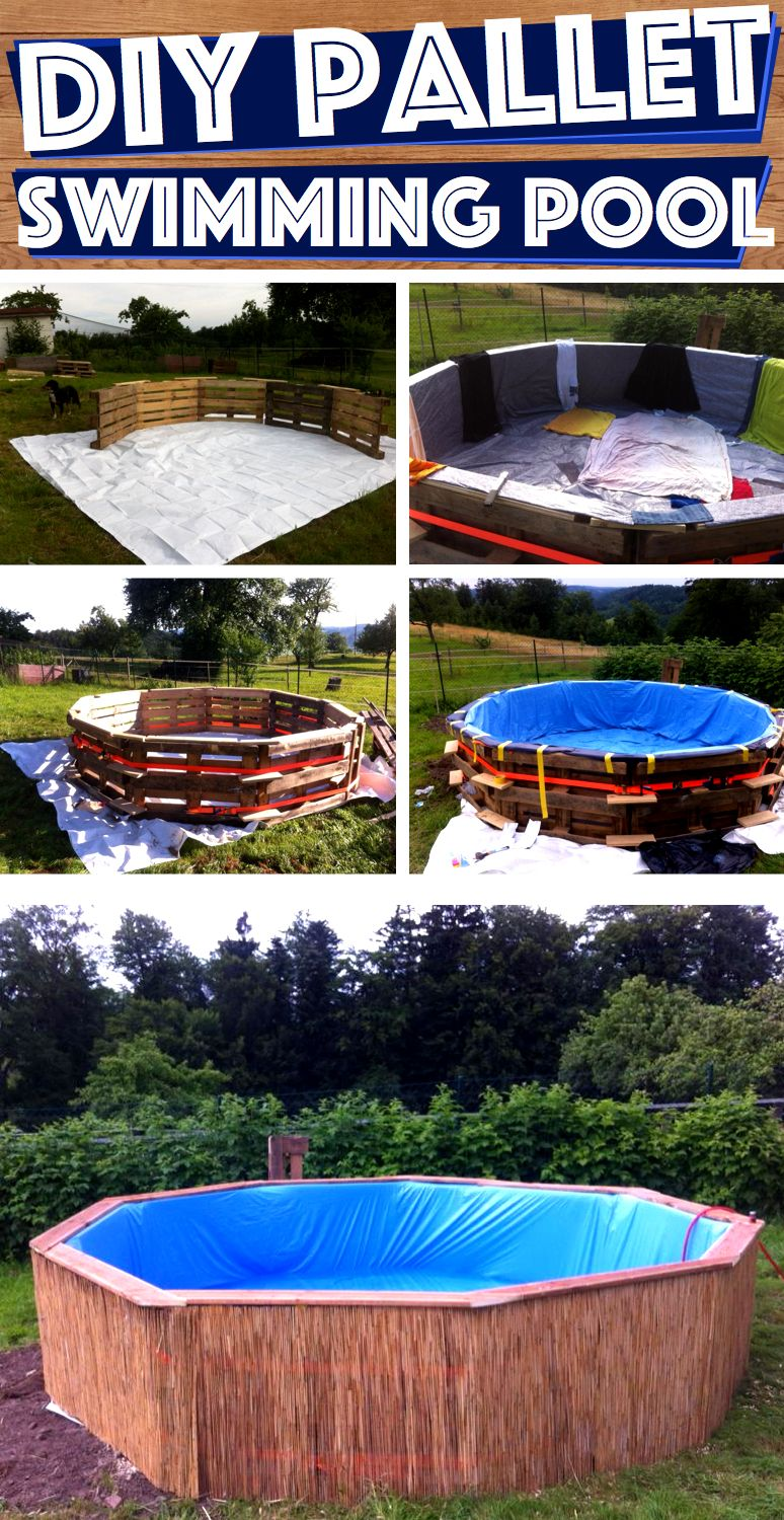 What you can do with 9 pallets in your backyard will make - How to make a swimming pool in your backyard ...