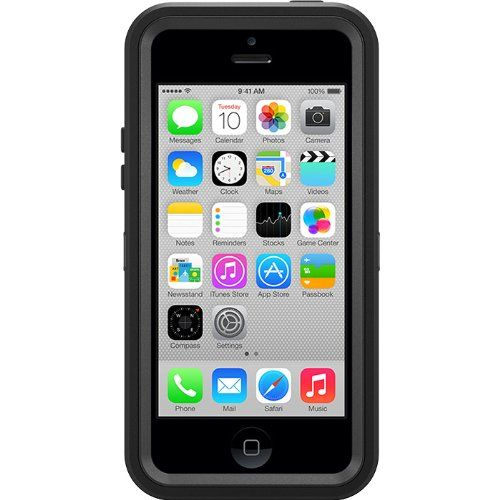 OtterBox [Defender Series] Case for iPhone 5c - Retail Packaging Protective Case for iPhone - Black - http://www.discountbazaaronline.com/otterbox-defender-series-case-for-iphone-5c-retail-packaging-protective-case-for-iphone-black/