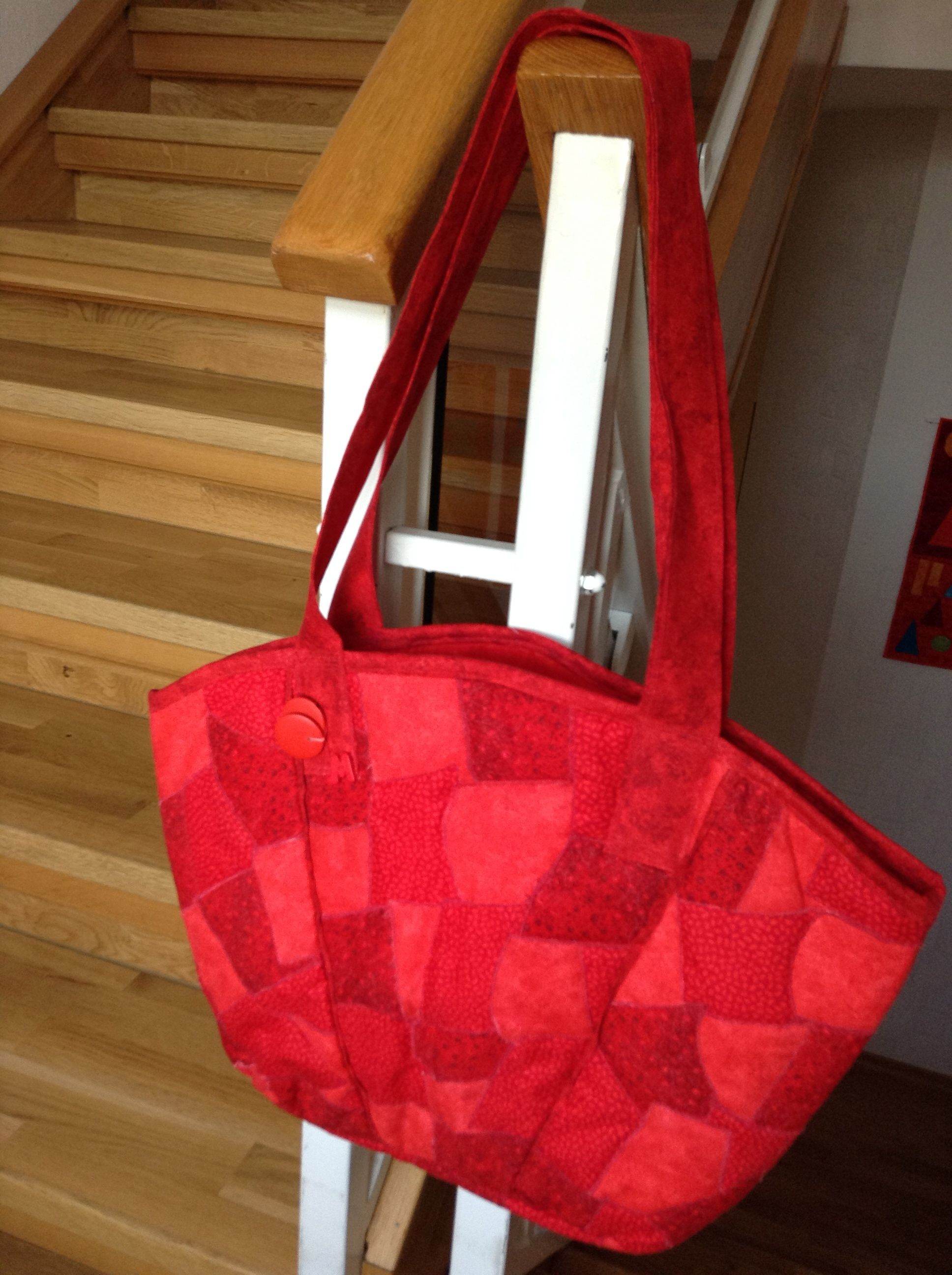 Patchwork Tasche in Rot, Quilt