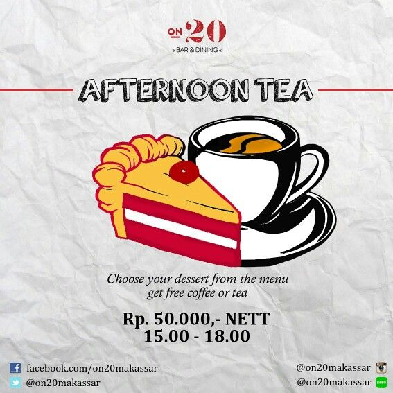 It's sunday fun day, peeps! Did you know that our Afternoon Tea Package is still ON! Treat yourself right with us. Hope you enjoy the rest of your weekend.  #on20makassar | on20makassar.com