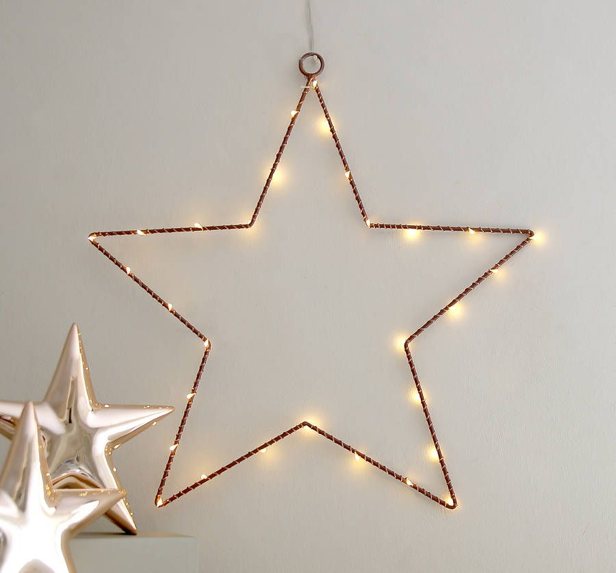 Copper Wire Star Light Decoration | Light decorations, Decoration ...