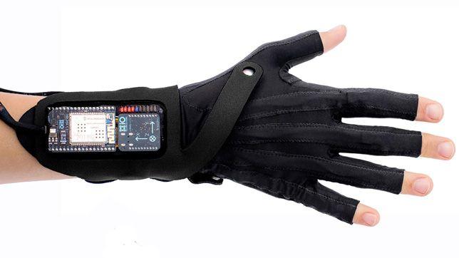 Mi.Mu gesture-control glove developed by a team led by Imogen Heap