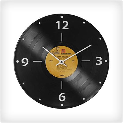 Record Clock perfect for vintage themed room