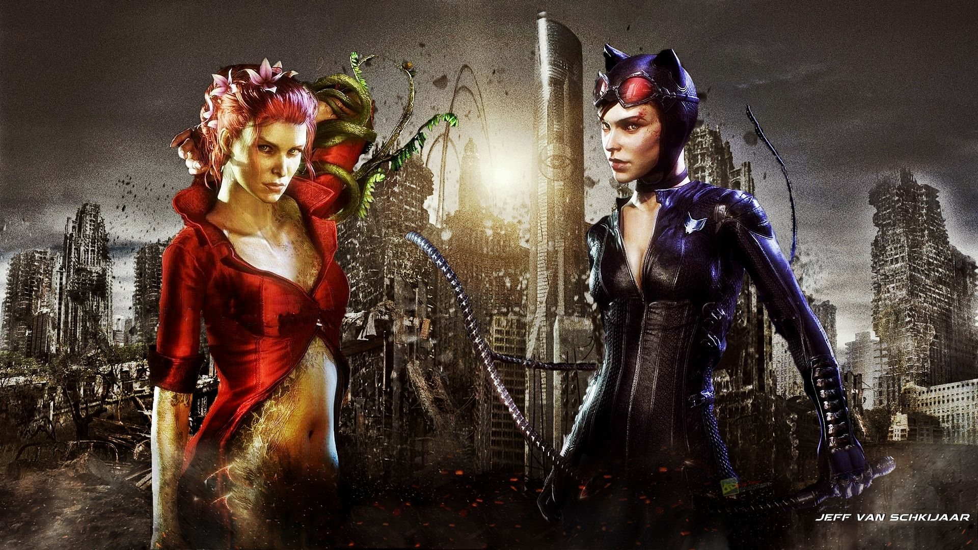 Catwoman Poison Ivy Batman Arkham Knight Wallpaper By Jeffery10 On DeviantArt Ritter