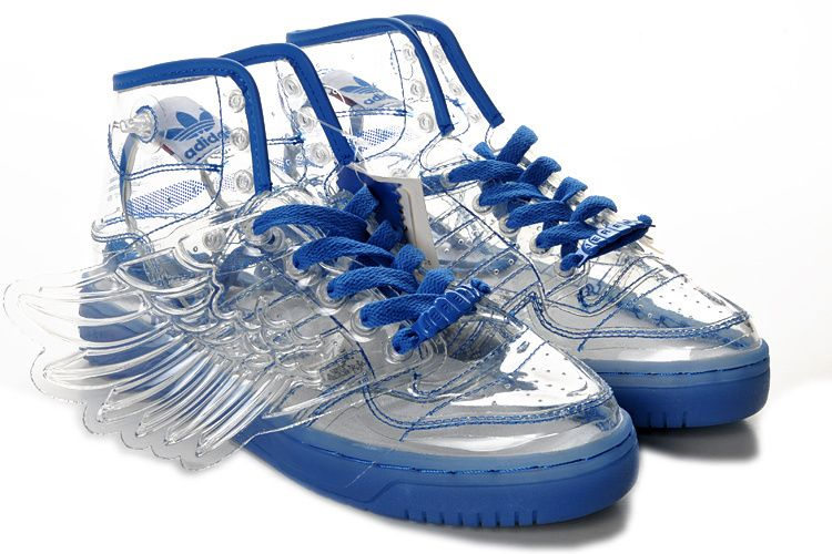 ba8b3d065fb8 Shop Cheap Blue Adidas Jeremy Scott JS Wings London Olympics Clear Shoes