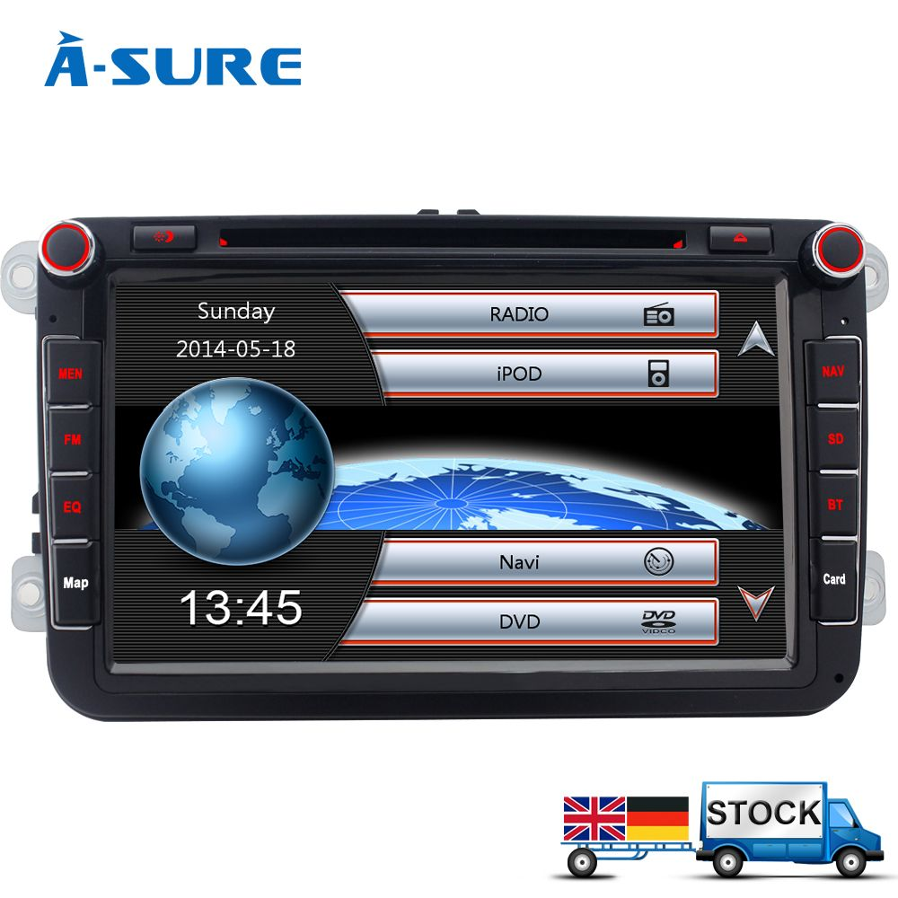 a sure 8 autoradio gps dvd for vw passat b6 sharan golf 5. Black Bedroom Furniture Sets. Home Design Ideas