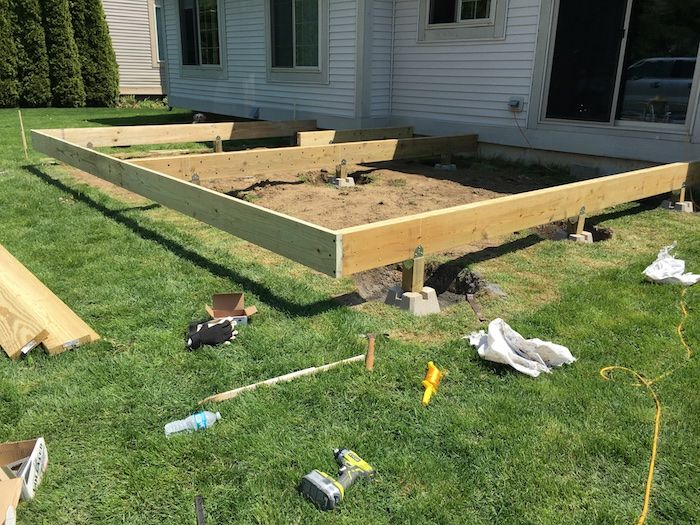 How To Build A Floating Deck Floating Deck Plans Building A