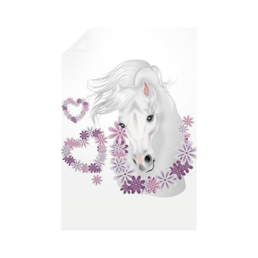 Equestrian Art - Romantic Horse Head - Vertical Wall Decals