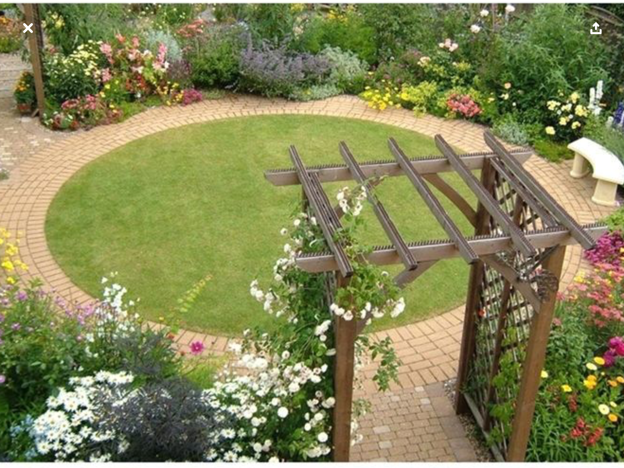 Pin By Bethodom On Yard Landscaping Circular Garden Design Front Garden Design Small Garden Design