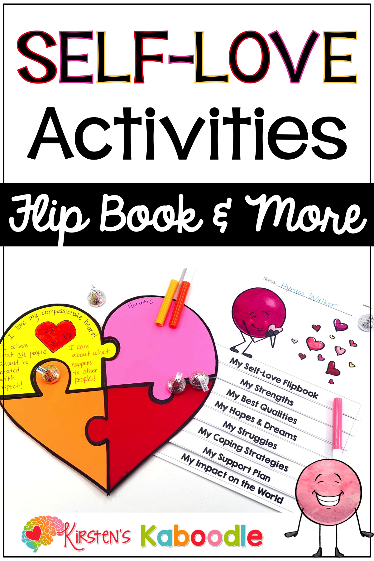 Self Love Activities Self Esteem Reflection Puzzle And