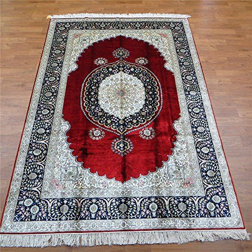 Camel Carpet Royal Red Hand Knotted Silk Persian And Oriental Rugs 6 X9 Http