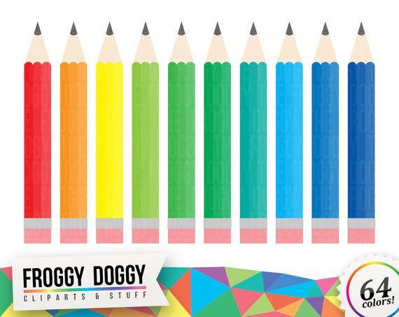 Colored Pencils Clipart, Pencils Clipart, Crayons Clipart, Drawing Clipart,  Planner Clipart,