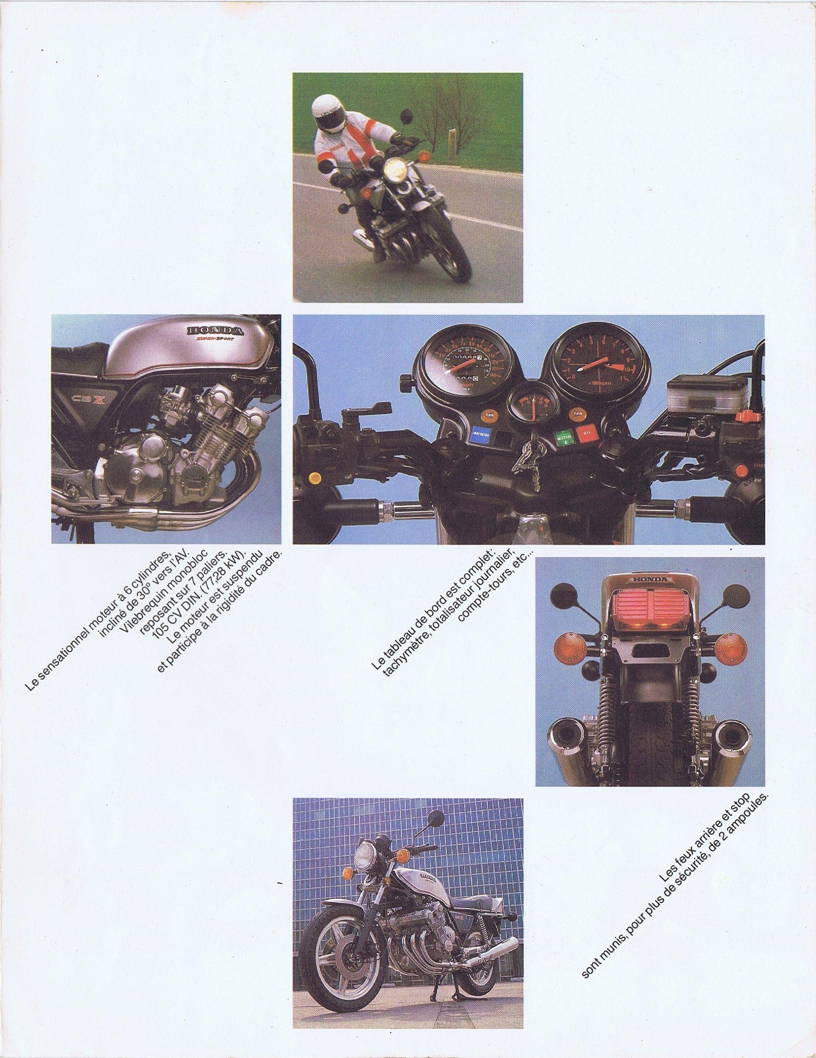 1978 02 Honda Cbx 1000 Brochure Netherland 07 Honda Cbx Honda Sports Sedan