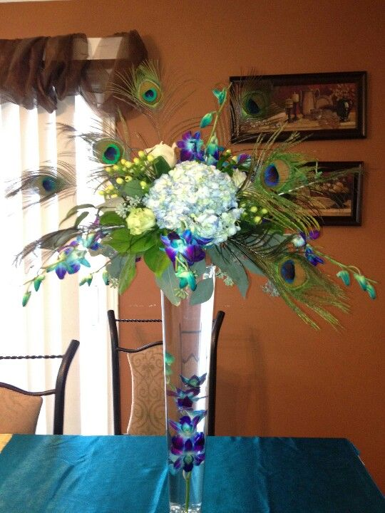 We Can Also Do Minimalistic Tall Centerpieces With Just A Few
