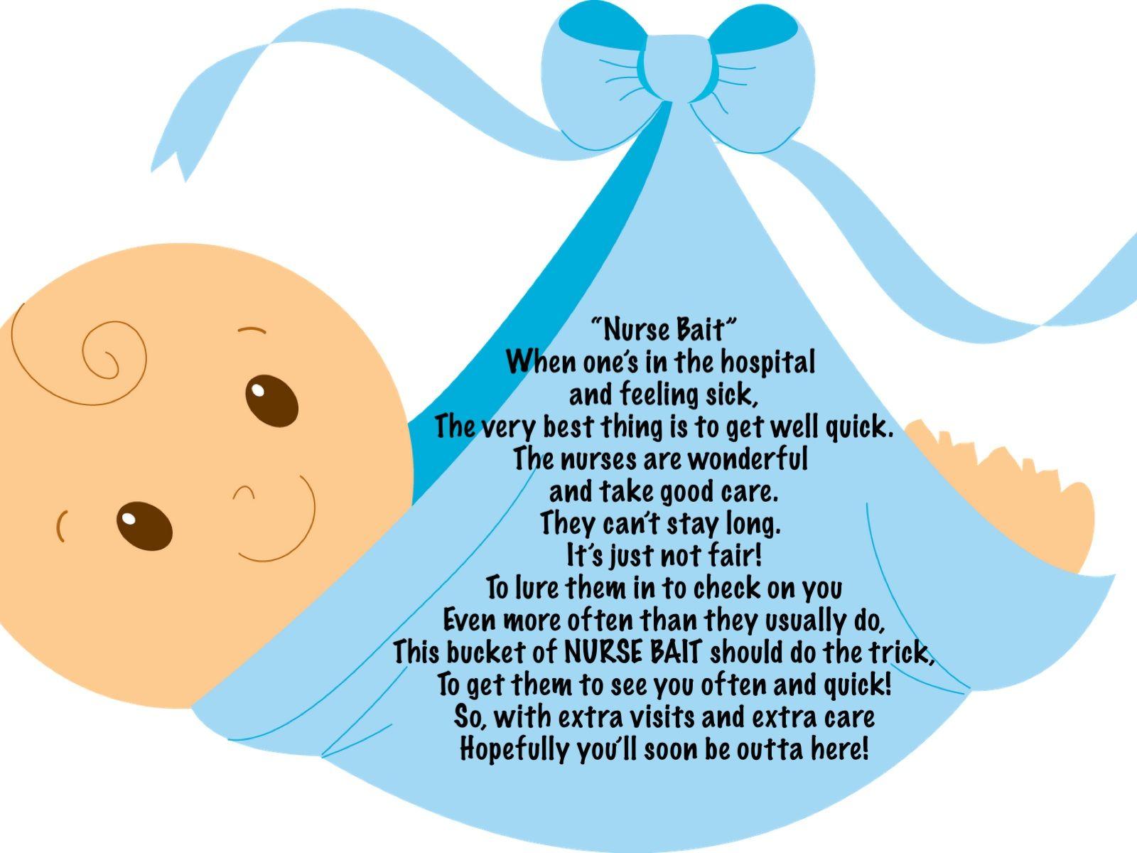 Baby Boy Nurse Bait (I take no credit for this poem ...