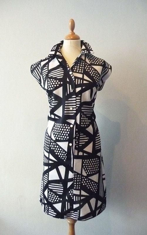 Vintage 70s JAREE CLASSICS Black White Mod by TheGatheringGoddess, £25.00
