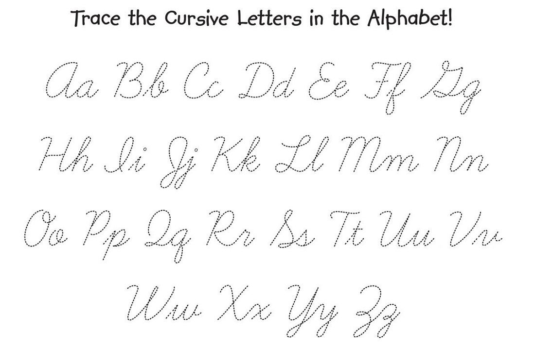 cursive letters tracing worksheet | montessori | Pinterest ...